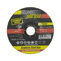 125 x 3.5mm Cut, Grind & Notch Combo Disc - Gold Series - Carded (x3)