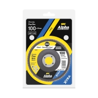 Carded Single Pack 100mm x ZK40 Flap Disc Gold Inox-Stainless Grit