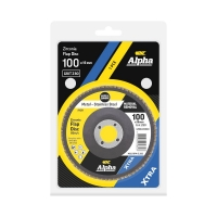 Carded Single Pack 100mm x ZK80 Flap Disc Gold Inox-Stainless Grit