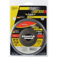 Carded Single Pack 115mm x ZK40 Flap Disc Gold Inox-Stainless Grit
