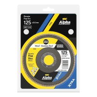 Carded Single Pack 125mm x ZK40 Flap Disc Gold Inox-Stainless Grit
