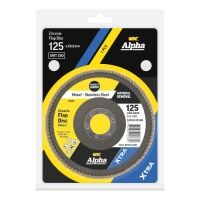 Carded Single Pack 125mm x ZK80 Flap Disc Gold Inox-Stainless Grit