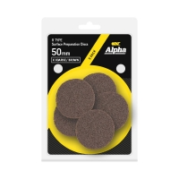 Carded 5 Pack 50mm Surface Prep Disc R Type Extra Coarse - Brown