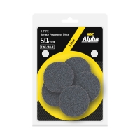 Carded 5 Pack 50mm Surface Prep Disc R Type Fine - Blue