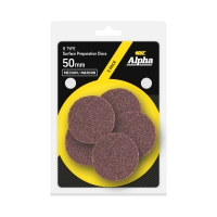 Carded 5 Pack 50mm Surface Prep Disc R Type Medium - Maroon