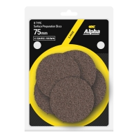 Carded 5 Pack 75mm Surface Prep Disc R Type Extra Coarse - Brown