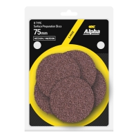 Carded 5 Pack 75mm Surface Prep Disc R Type Medium - Maroon