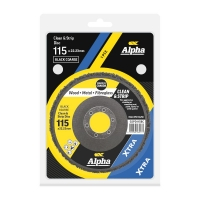 Carded Single Pack 115mm Surface Preparation  Clean and Strip Disc Black Coarse
