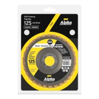 SCM Finishing Flap Disc 125mm Coarse/ Brown Carded