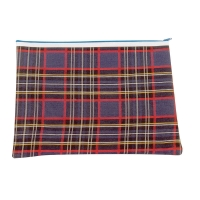 375 x 264mm 1 Zip Tartan Pencil Case