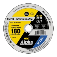 180 x 1.6mm Cutting Disc - Stainless Gold Series II