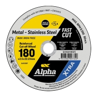 180 x 2.5mm Cutting Disc - Stainless Gold Series II