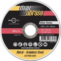 100 x 1.0mm Cutting Disc - Stainless Silver Series