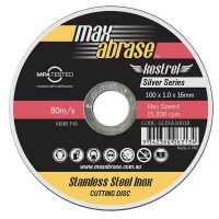 115 x 1.0mm Cutting Disc 10 Pack Tin Stainless Silver Series