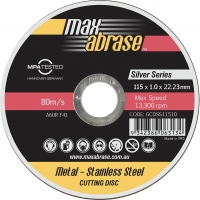 115 x 1.0mm Cutting Disc - Stainless Silver Series