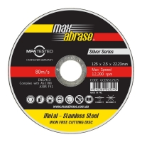 125 x 2.5mm Cutting Disc - Stainless Silver Series