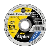 125 x 2.5mm Cut, Grind & Notch Combo Disc - Gold Series