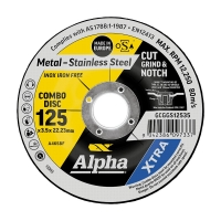 125 x 3.5mm Cut, Grind & Notch Combo Disc - Gold Series