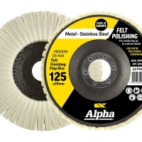 Felt Polishing Flap Disc Gold 125mm Medium