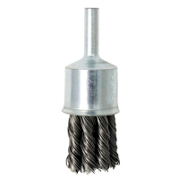 Knot Wire End Brush 19mm with 1/4in Mandrel Shank