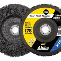 Surface Preperation Clean & Strip Disc 180mm Black Coarse