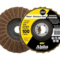 Surface Prep Flap Disc 100mm Coarse/ Brown