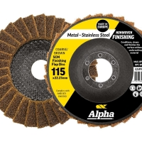 Surface Prep Flap Disc 115mm Coarse/ Brown