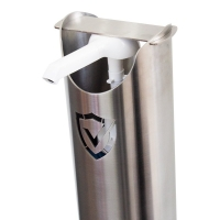 Sterling Shield Sanitiser Bollard Stainless Steel