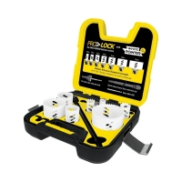 Electricians 10 Piece: Pro Lock Quick Change White Pointer Holesaw Kit