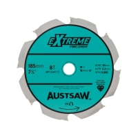Austsaw - 185mm ( 7 1/4in) Polycrystalline Diamond Blade - 20/16mm Bore - 4PCD 4