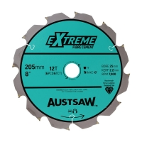 Austsaw - 205mm ( 8in) Polycrystalline Diamond Blade - 25mm Bore - 6PCD 6TCT Tee