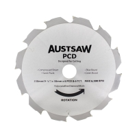Austsaw - 230mm (9in) Polycrystalline Diamond Blade - 30mm Bore - 6PCD 6TCT Teet