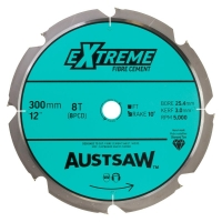 Austsaw - 300mm (12in) Polycrystalline Diamond Blade - 25.4mm Bore - 8PCD Teeth