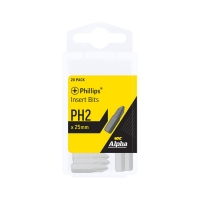 PH2 x 25mm Phillips Insert Bits - Box of 20