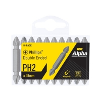 PH2 x 45mm Double Ended Driver Bits - Handipack (x10)