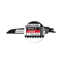 Destructor Demolition - Metal & Timber - Recip Blade, 8 TPI, 150mm - 25 Pack