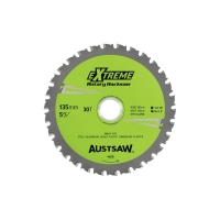 Austsaw - 135mm (5.3in) Rotary Hacksaw Blade - 20/16/10mm Bore - 30 Teeth