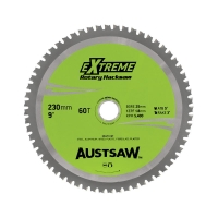 Austsaw - 230mm (9in) Rotary Hacksaw Blade - 25mm Bore - 60 Teeth