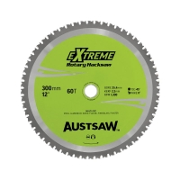 Austsaw - 300mm (12in) Rotary Hacksaw Blade - 25.4mm Bore - 60 Teeth