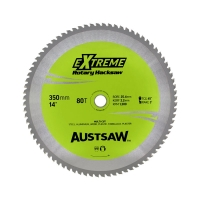 Austsaw - 350mm (14in) Rotary Hacksaw Blade - 25.4mm Bore - 80 Teeth