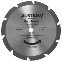 Austsaw - 350mm(14in) Rootmaster Blade - 25.4/20mm Bore - 10 Teeth