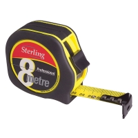 8m X 25mm Sterling Professional Tape Measure