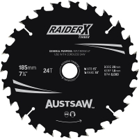 Austsaw RaiderX Timber Blade 185mm x 20/16 Bore x 24 T