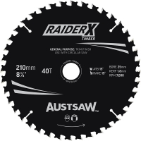 Austsaw RaiderX Timber Blade 210mm x 25/16 Bore x 40 T Thin Kerf