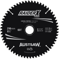 Austsaw RaiderX Timber Blade 216mm x 30/15.88 Bore x 60 T