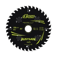 Austsaw Extreme: Wood with Nails Blade 136mm x 20/16 Bore x 36 T Thin Kerf