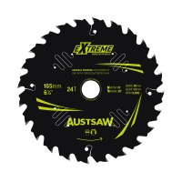 Austsaw Extreme: Wood with Nails Blade 165mm x 20/16 Bore x 24 T Thin Kerf