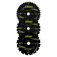 Austsaw Extreme: Wood with Nails Blade 3 Pce Set 185mm x 20/16 Bore x 16T/24T/40