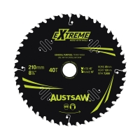 Austsaw Extreme: Wood with Nails Blade 210mm x 25/16 Bore x 40 T Thin Kerf