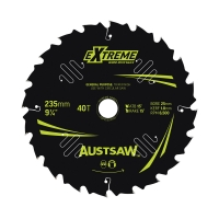 Austsaw Extreme: Wood with Nails Blade 235mm x 25 Bore x 20 T Thin Kerf